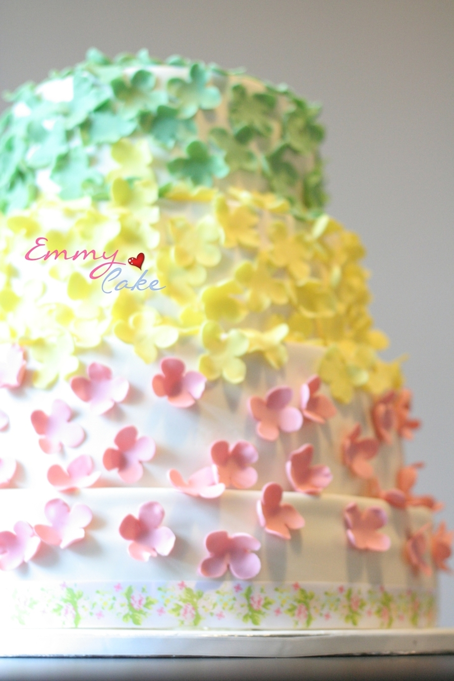 Colourful Flowers Cake on Cake Central