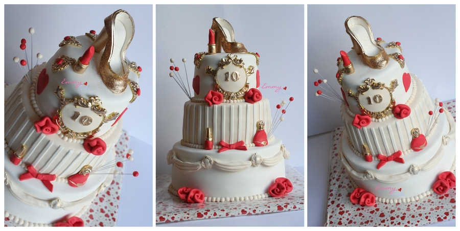 Sweet 10 Glitter And Glamour on Cake Central