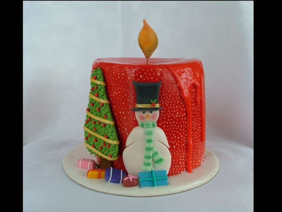 Christmas Candle on Cake Central