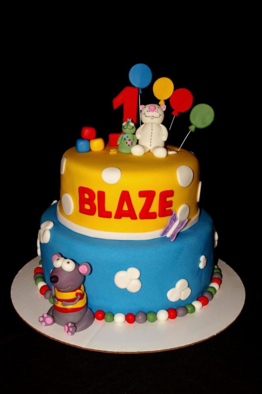 1st Birthday Cake For A Special Toopy And Binoo Fan All Characters