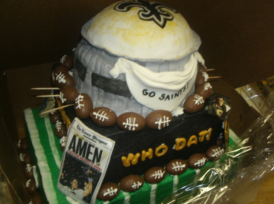 New Orleans Saints Superdome Grooms Cake On Central