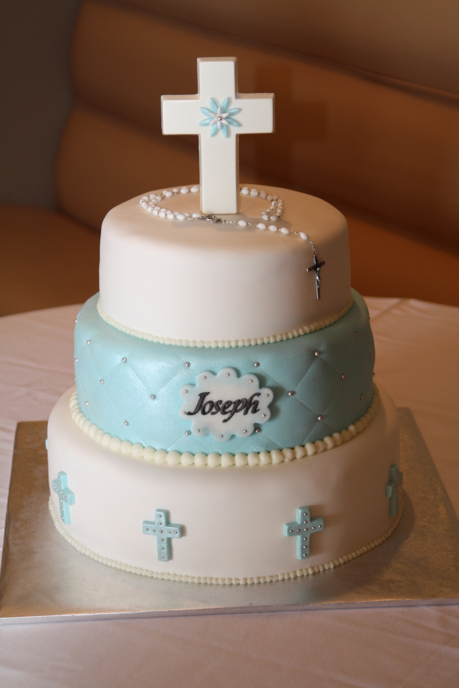 Baby Boy Baptism Cakes Pinterest