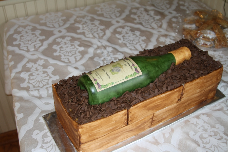 Wine Case on Cake Central