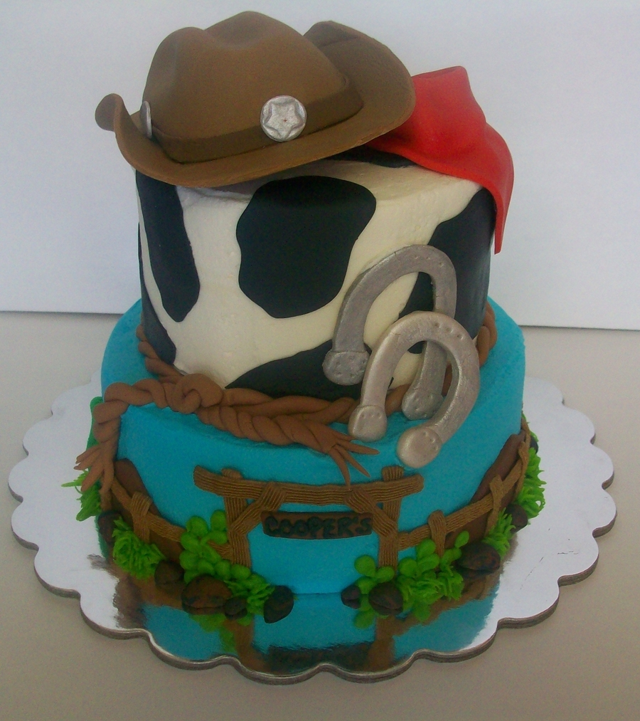 Western Birthday Cake on Cake Central