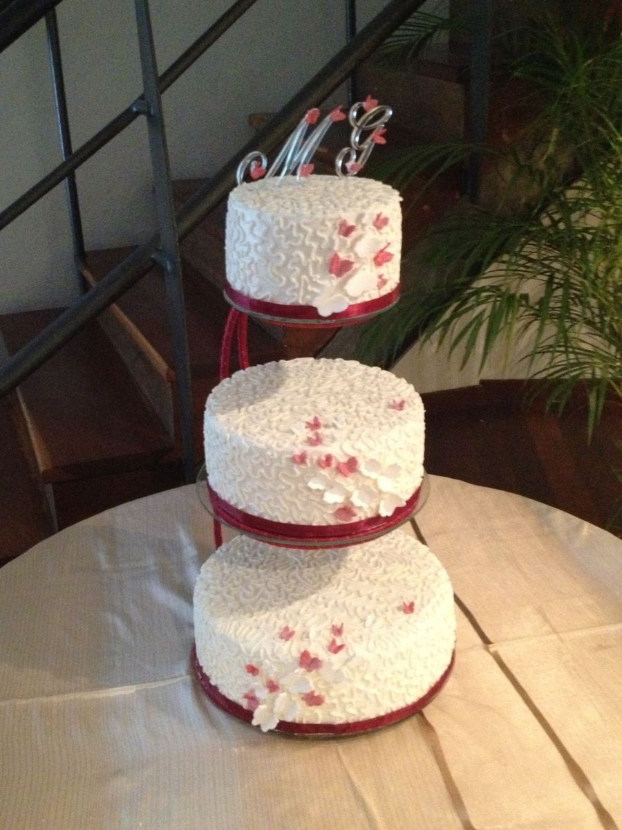 My First 3 Tier Weeding Cake  on Cake Central