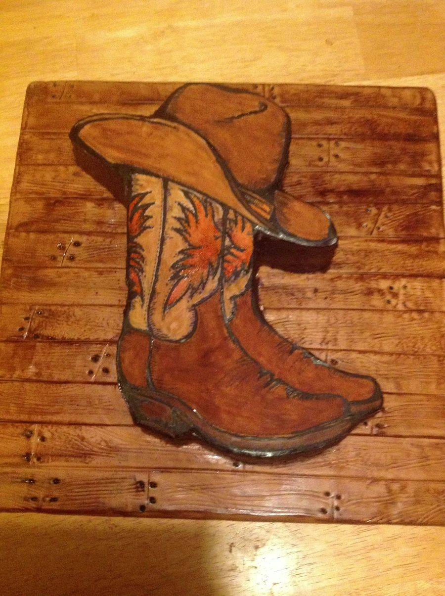 Cowboy Boot Grooms Cake Made For Animal Planet Show Called Mud Lovin Rednecks on Cake Central