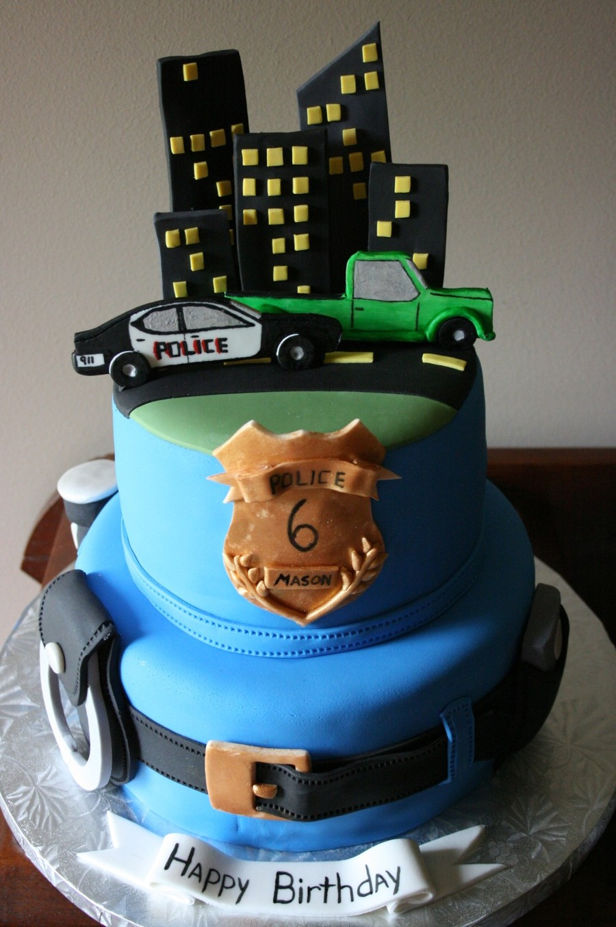 Cake Decorations For Police Cake : Police Officer Cake - CakeCentral.com