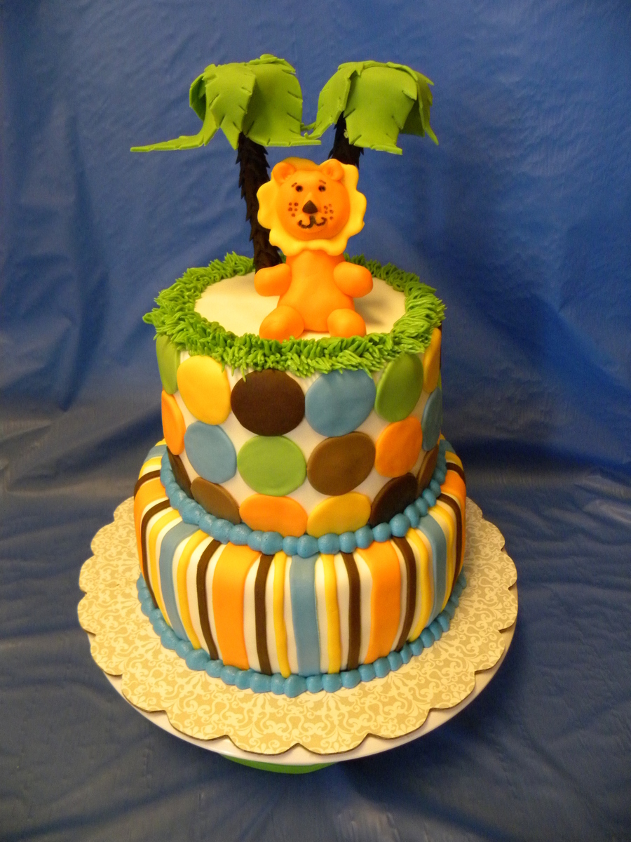 King Of The Jungle Baby Shower Cake on Cake Central