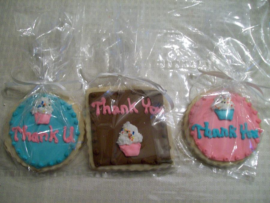 Thank You Cookies  on Cake Central