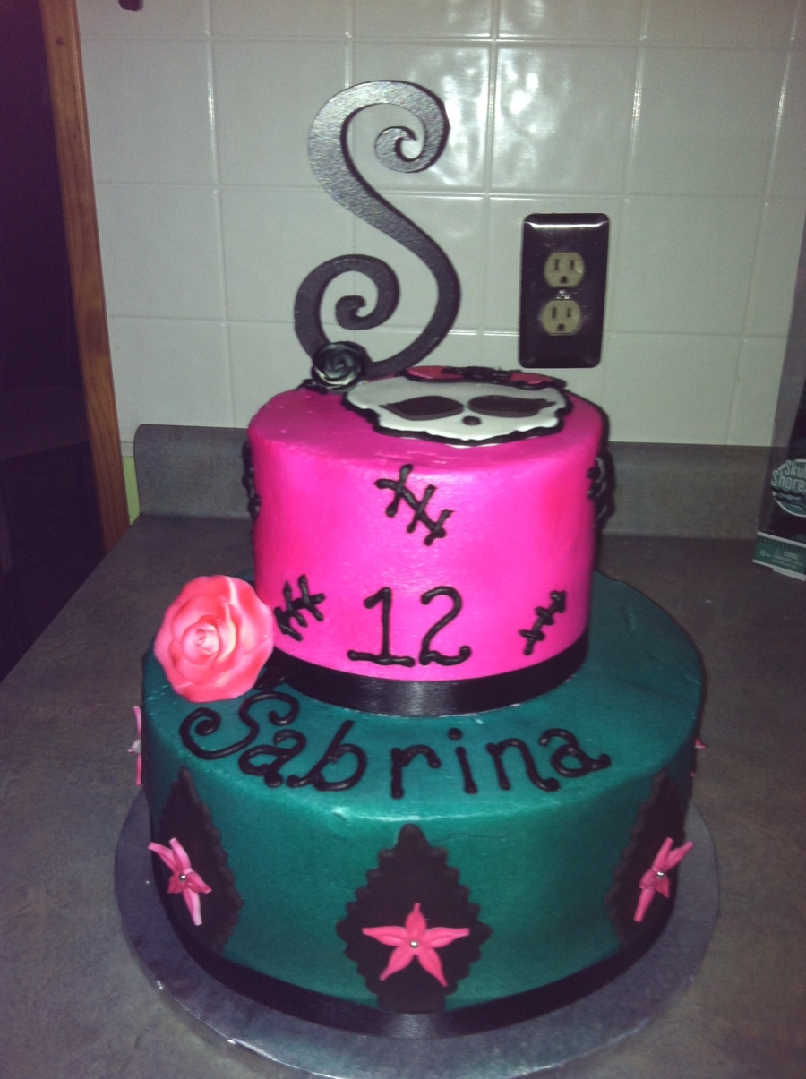 Remarkable Monster High Birthday Cake For My Granddaughter Sabrinas 12Th Personalised Birthday Cards Epsylily Jamesorg