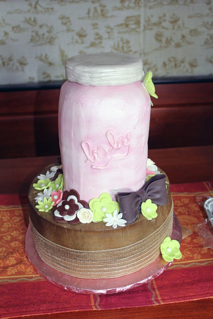 Mason Jar Baby Shower Cake On Cake Central