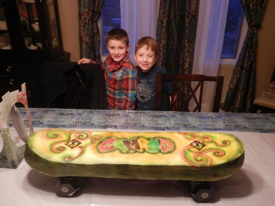 Buttercream Skateboard Cake For My Grandsons 7Th Birthday Party on Cake Central
