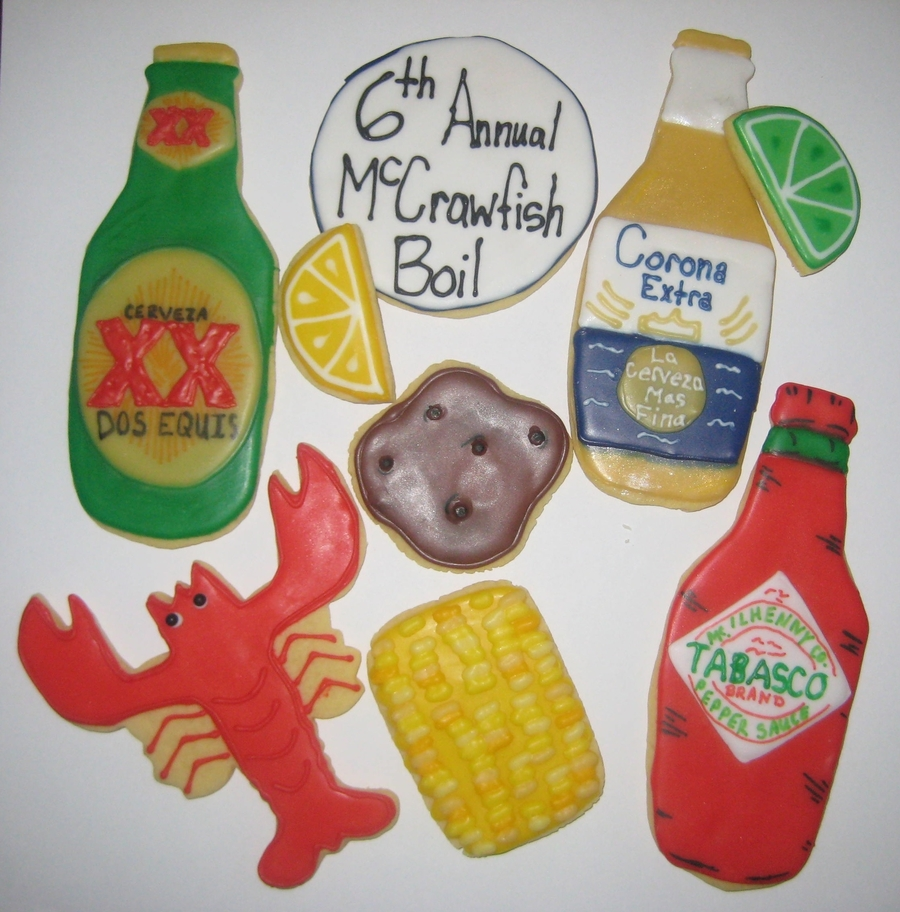 Crawfish Boil Cookies on Cake Central