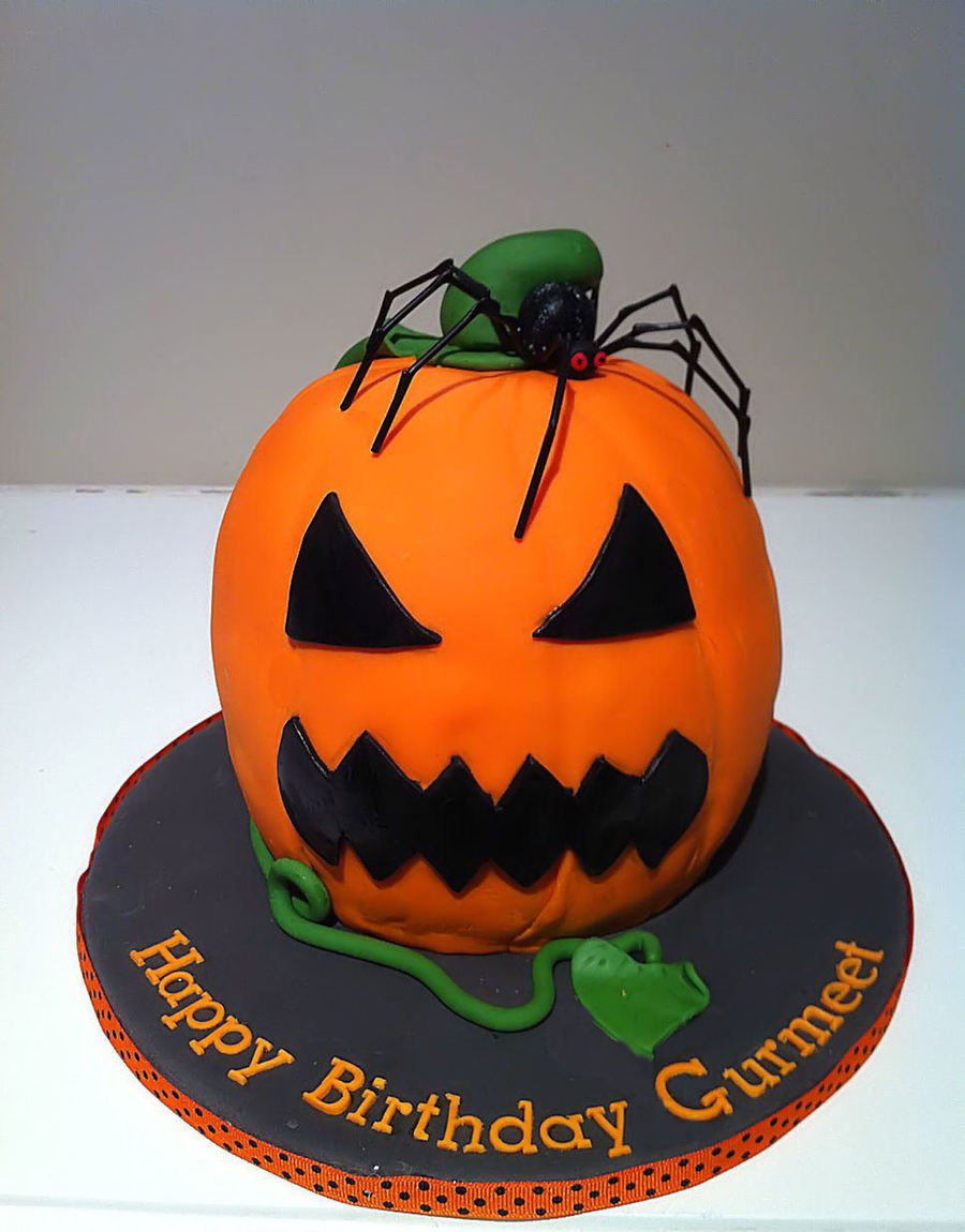 Jack-O Lantern Birthday Cake on Cake Central
