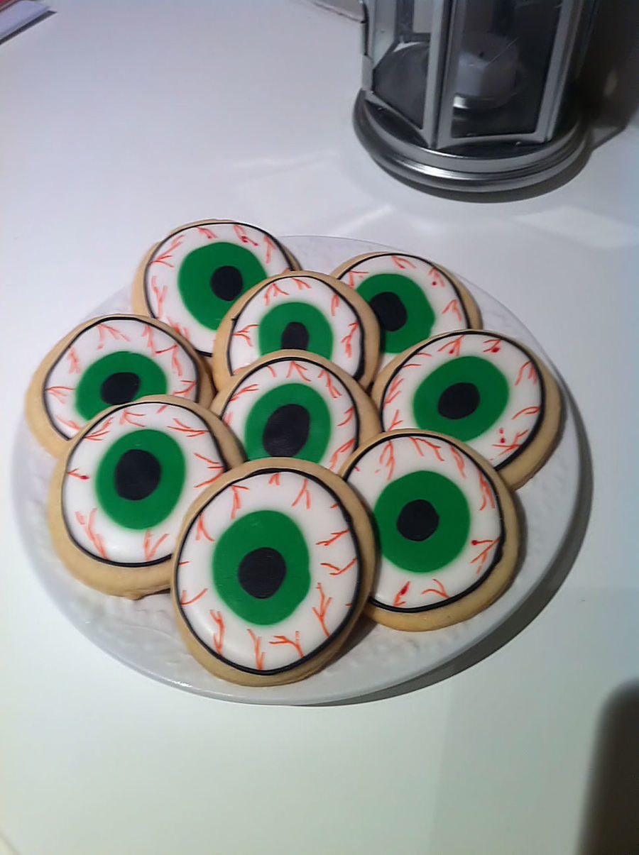 Halloween - Eye Ball Cookies  on Cake Central