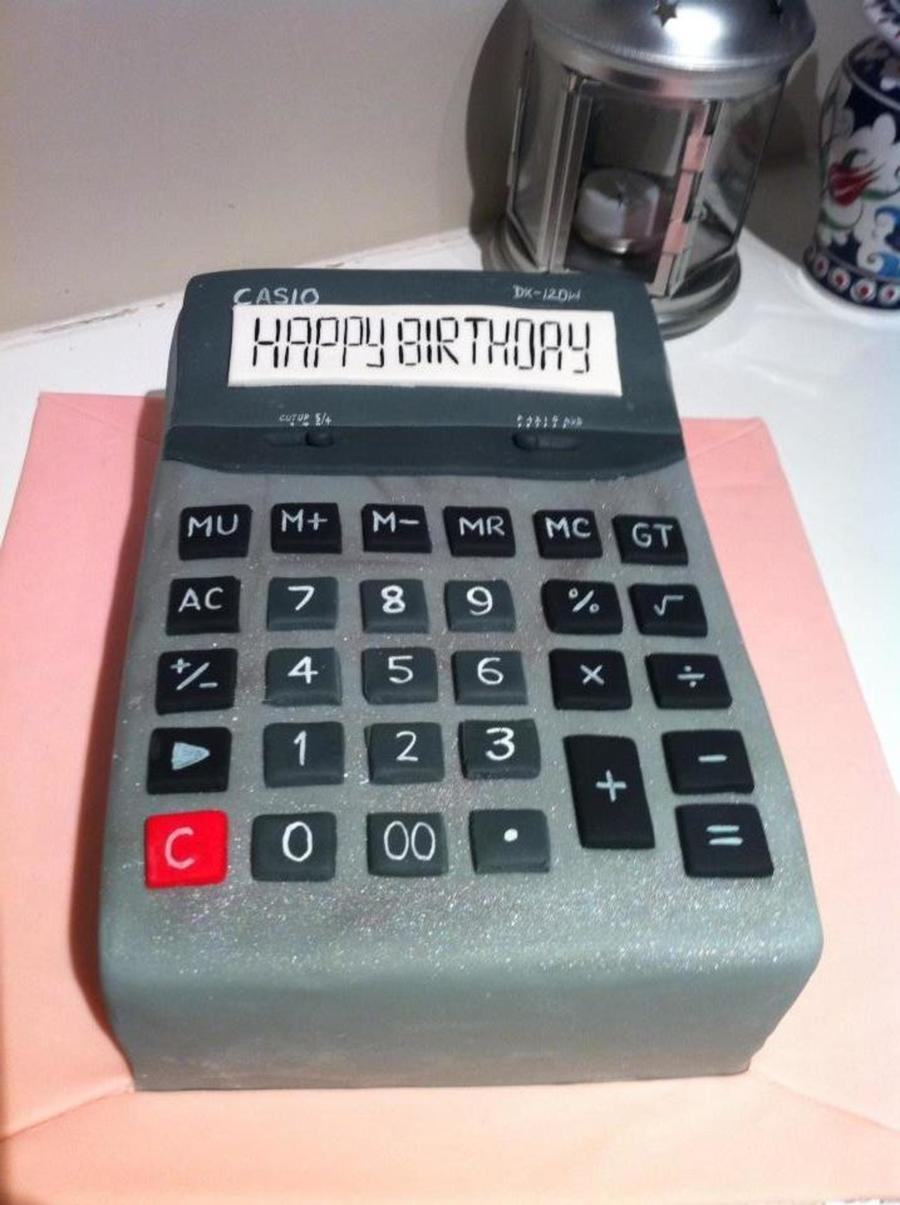 Calculator Cake on Cake Central