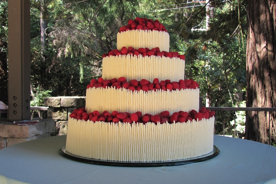 White Chocoalet Cigarillo Wedding Cake  on Cake Central
