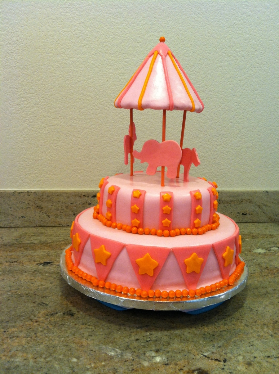 Circus Carousel Cake on Cake Central