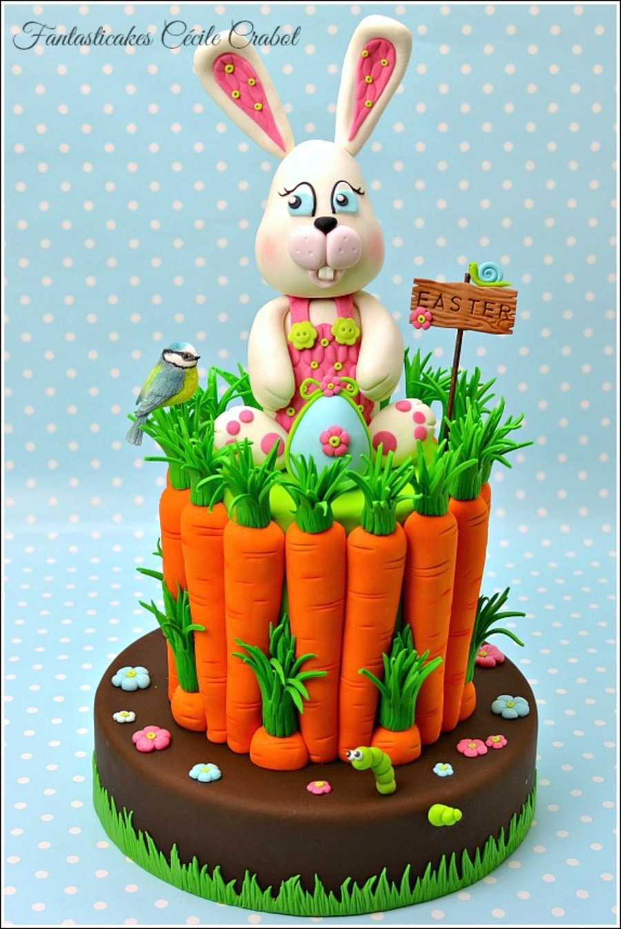 Easter Bunny And Carrots Cake Cakecentral Com