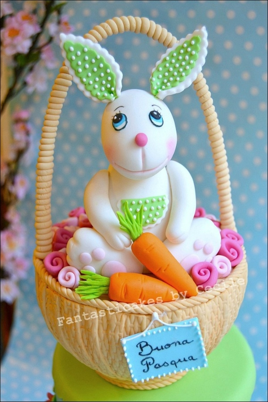Easter Bunny In A Basket Cake - CakeCentral.com
