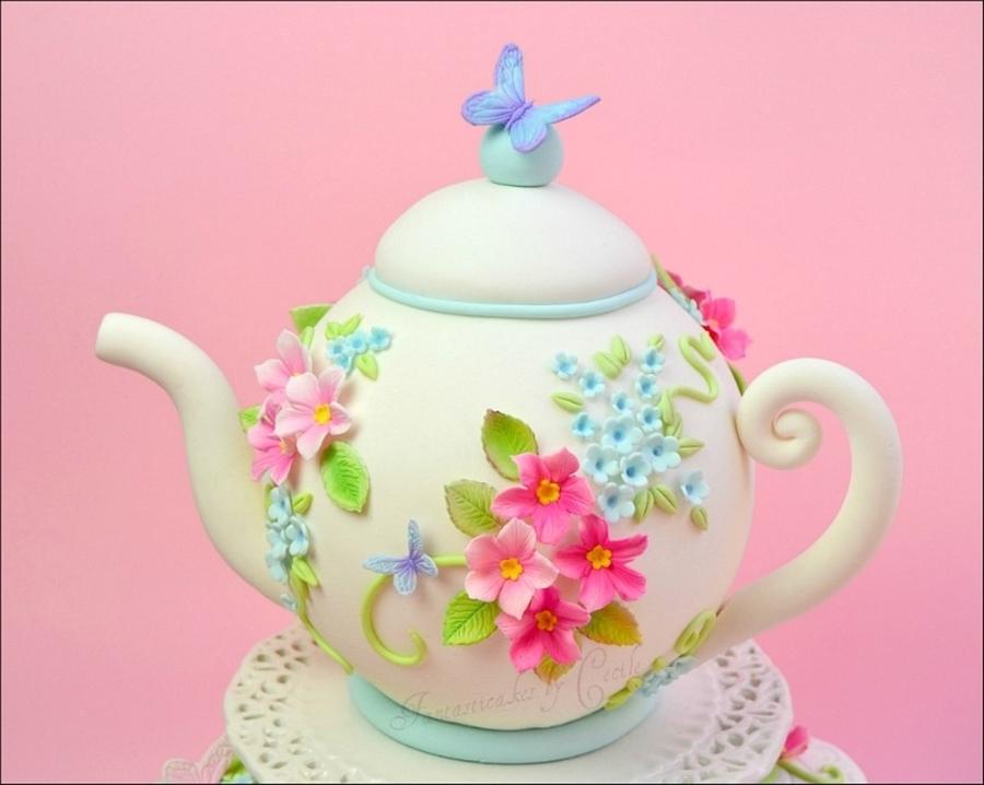 Spring Teapot - CakeCentral.com