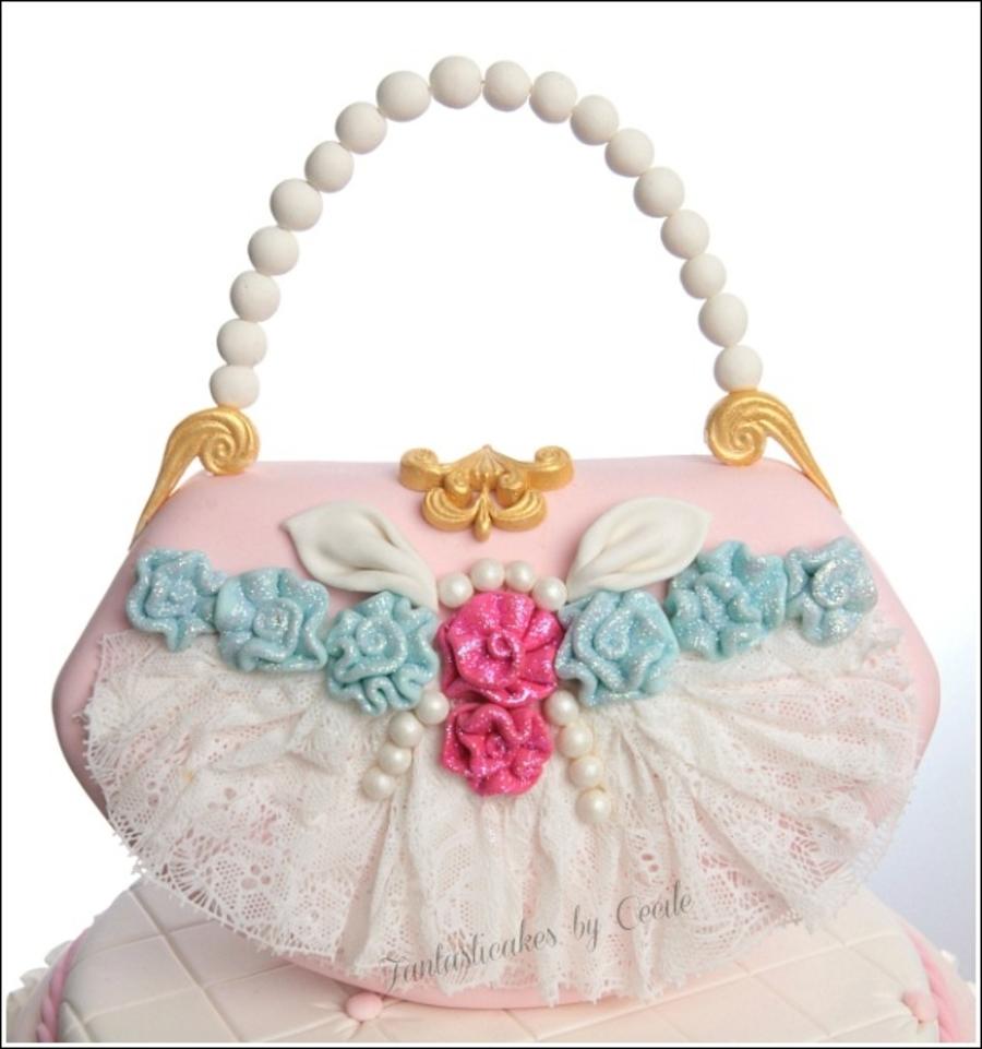 Shabby Chic Purse Cake - CakeCentral.com