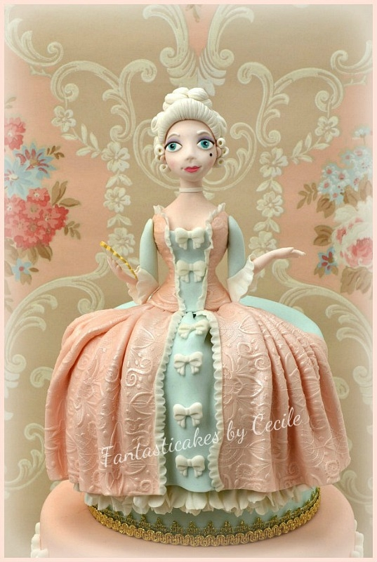 Madame De Pompadour Cake - CakeCentral.com