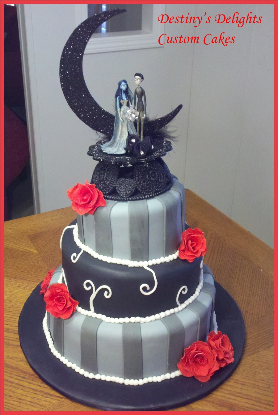 Corpse Bride Wedding Cake on Cake Central