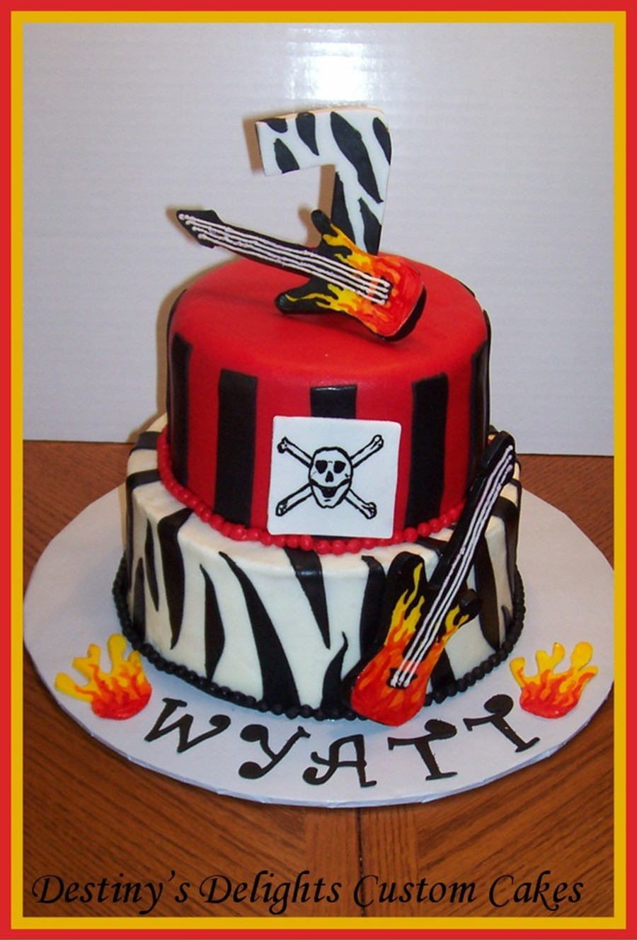 Terrific Rock N Roll Birthday Cake Cakecentral Com Birthday Cards Printable Opercafe Filternl
