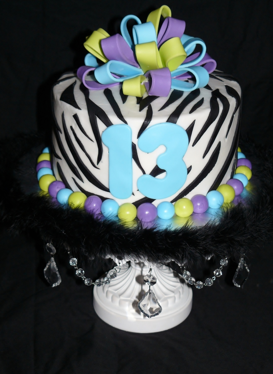 Zebra And Multi Color on Cake Central