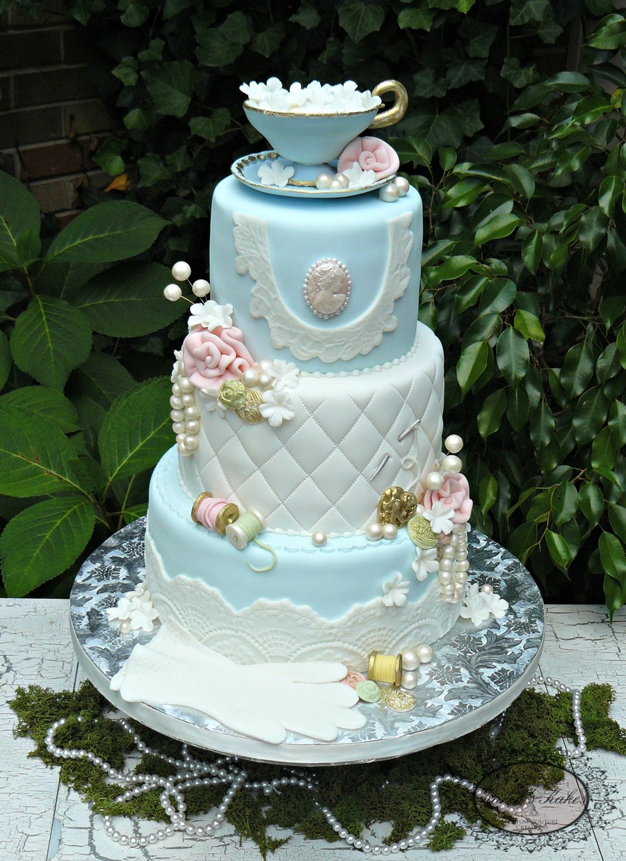Vintage Pastel 80th Birthday Cake Cakecentral