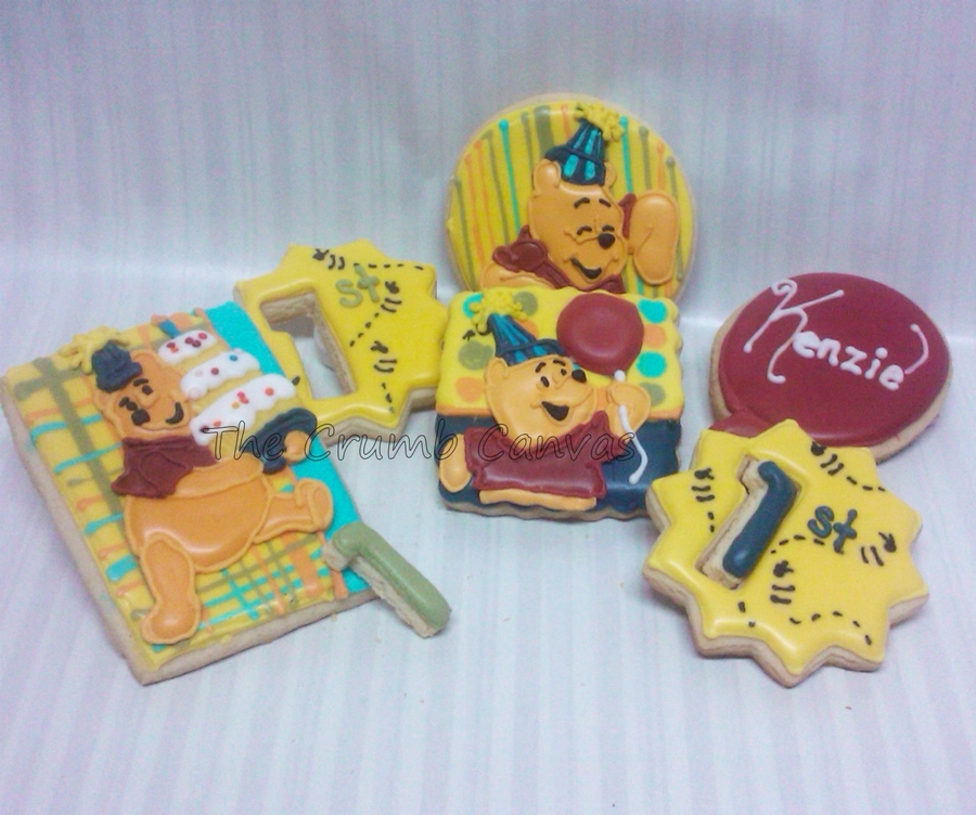 Pooh Bear Cookies on Cake Central