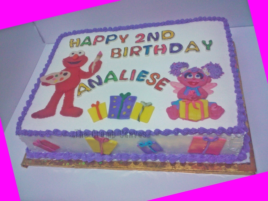 Awesome Elmo And Abby Cakecentral Com Funny Birthday Cards Online Necthendildamsfinfo