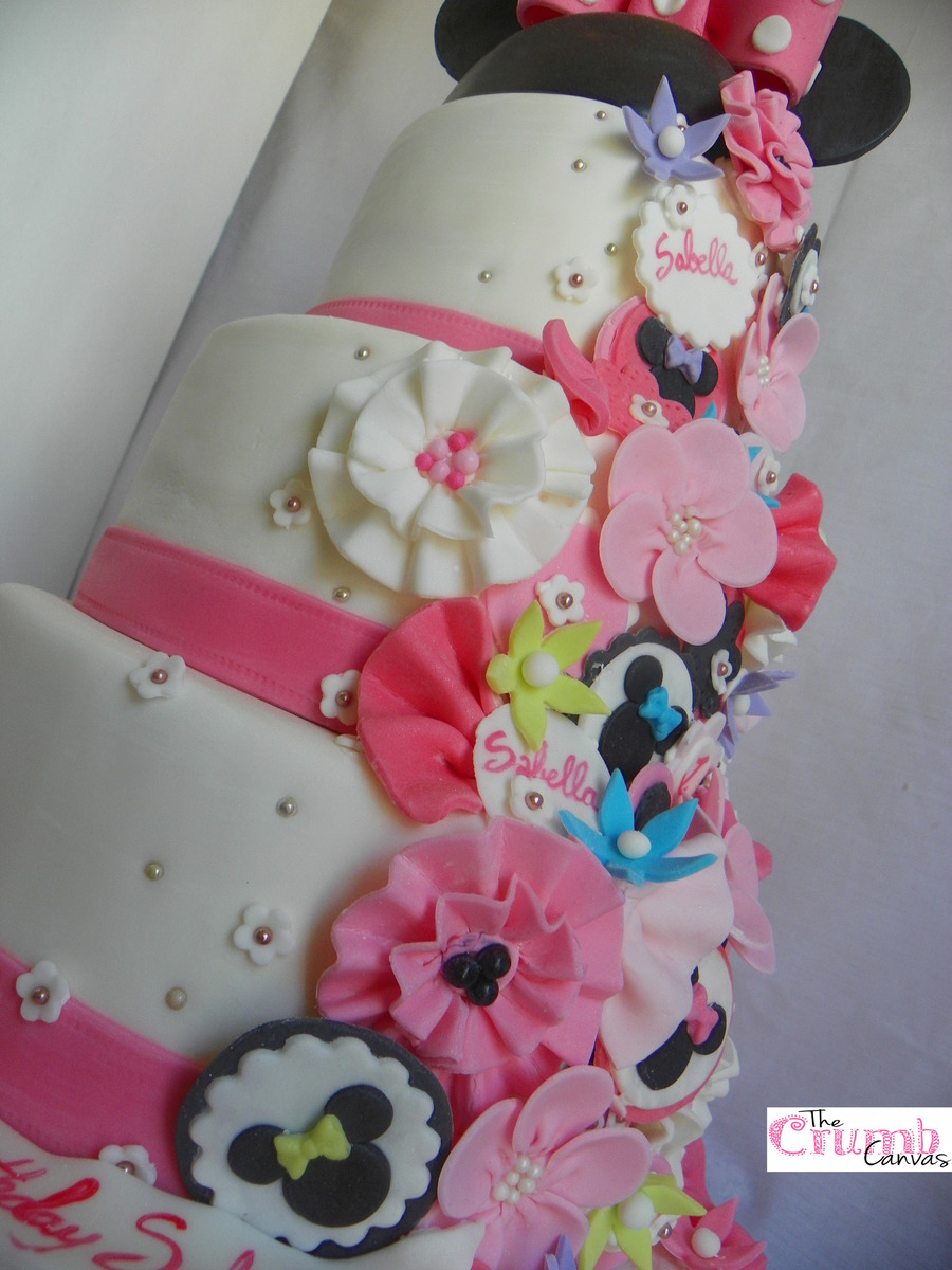 Minnie Mouse Bowtique Birthday Cake