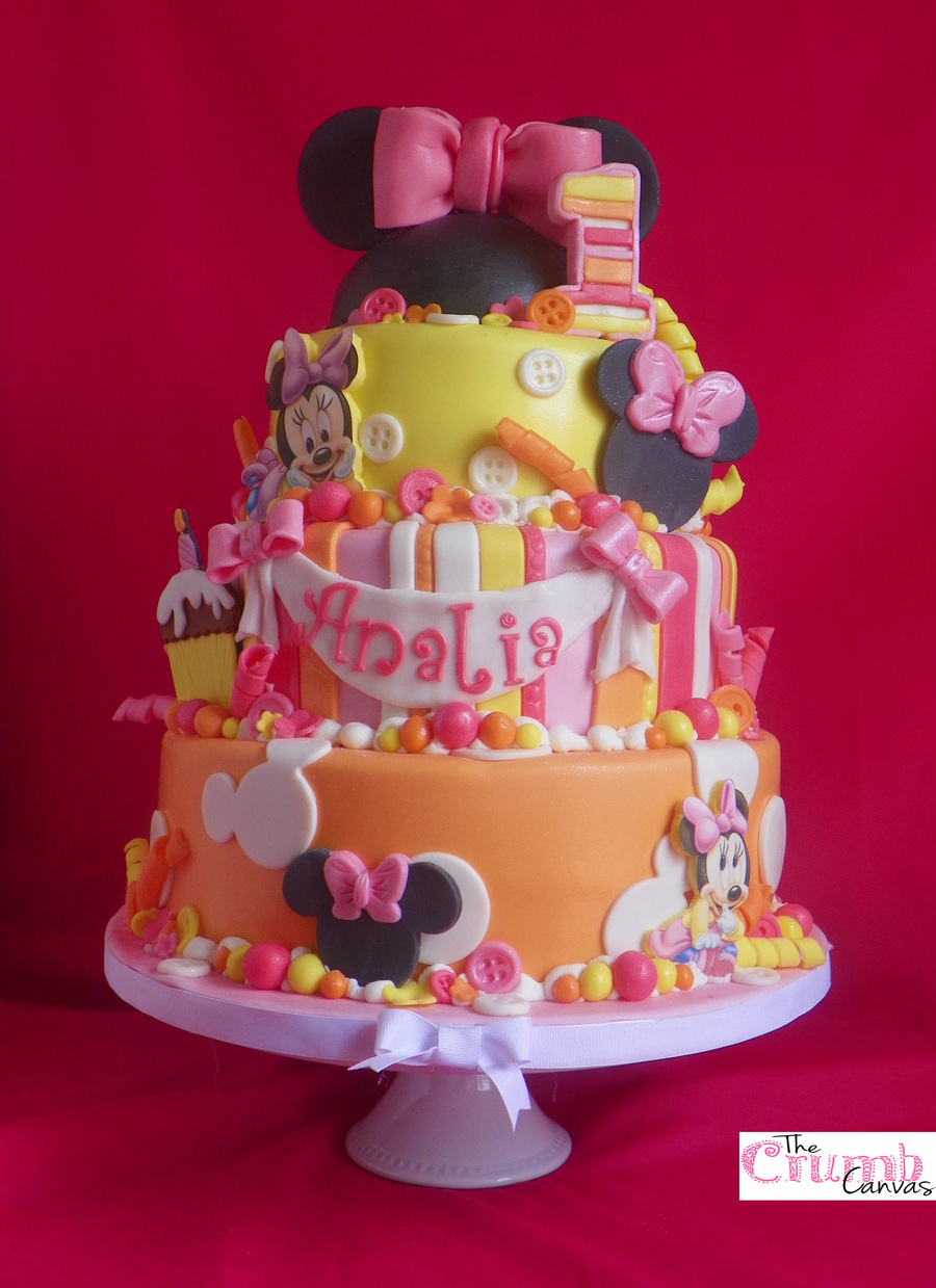 Amazing Minnie Mouse First Birthday Cake Cakecentral Com Funny Birthday Cards Online Alyptdamsfinfo