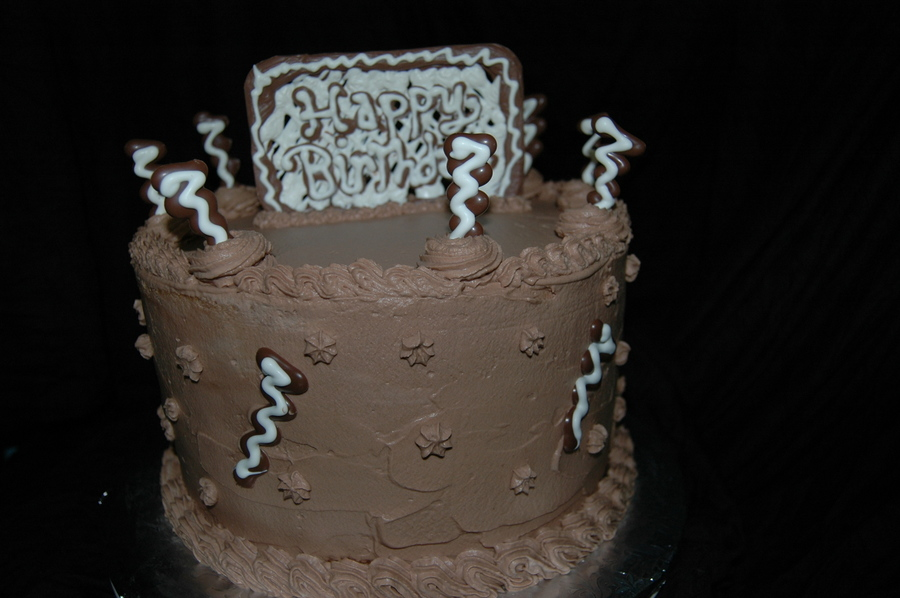 Choc Whipped Cream Birthday - CakeCentral.com