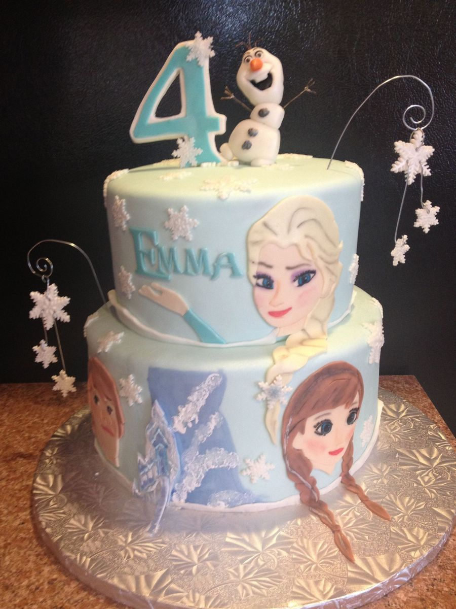 Disney Frozen Cake Butter Yellow Cake With Vanilla