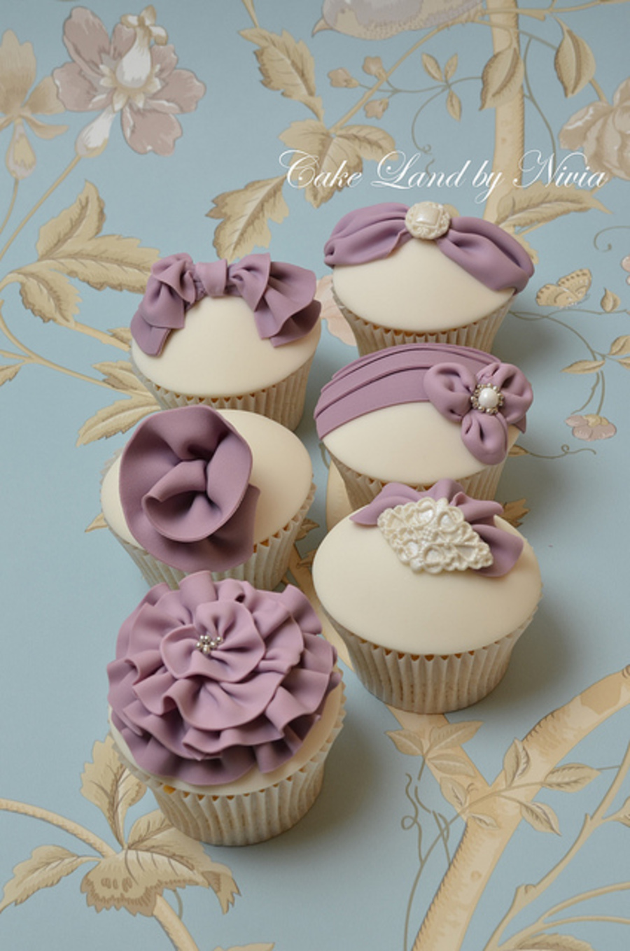 Purple Wedding Cupcakes on Cake Central
