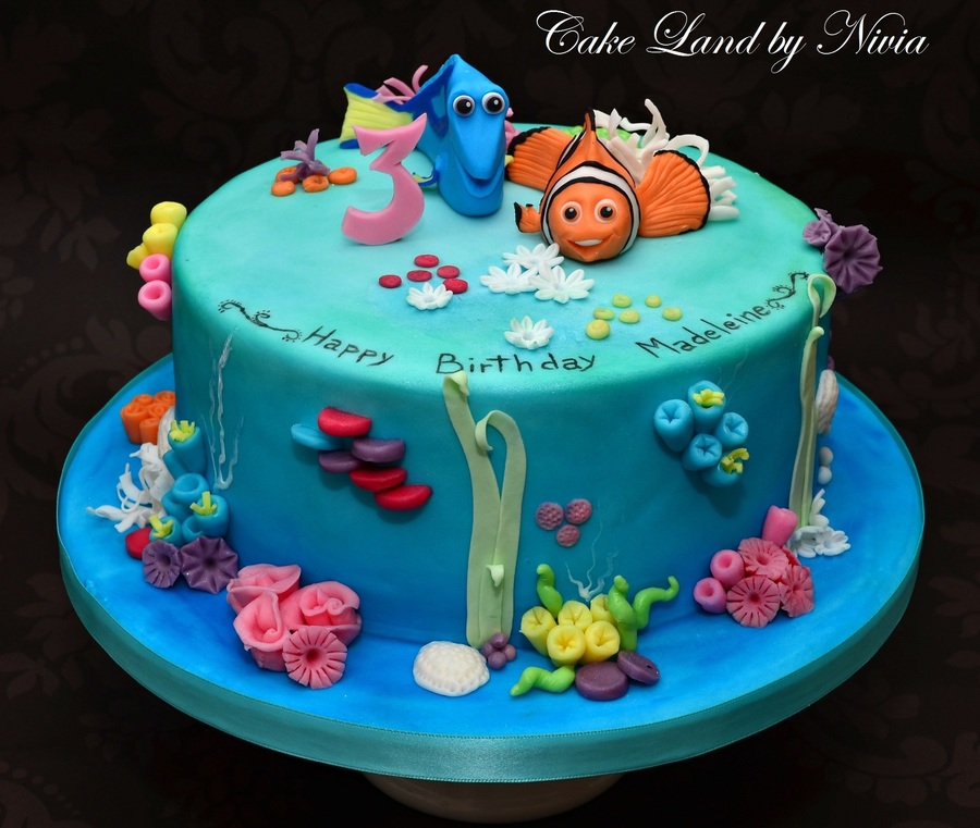 Nemo Birthday Cake CakeCentralcom