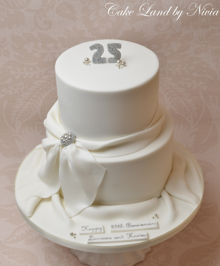 25Th Wedding Anniversary Cake on Cake Central