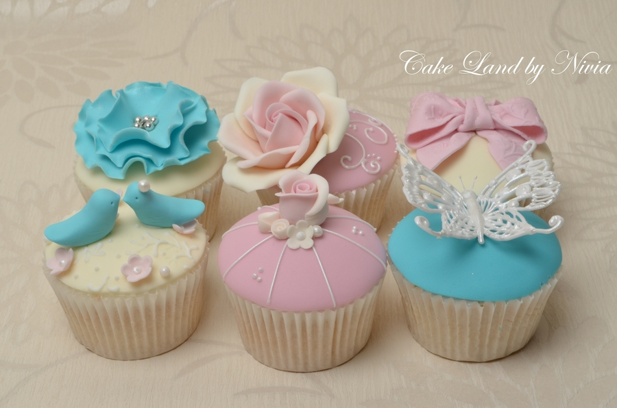 Pink And Teal Cupcakes on Cake Central