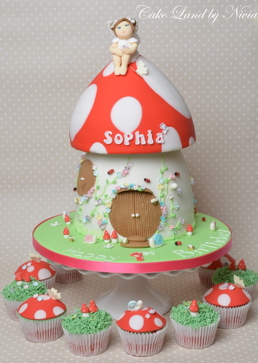 Fairy Toadstool House Cake on Cake Central