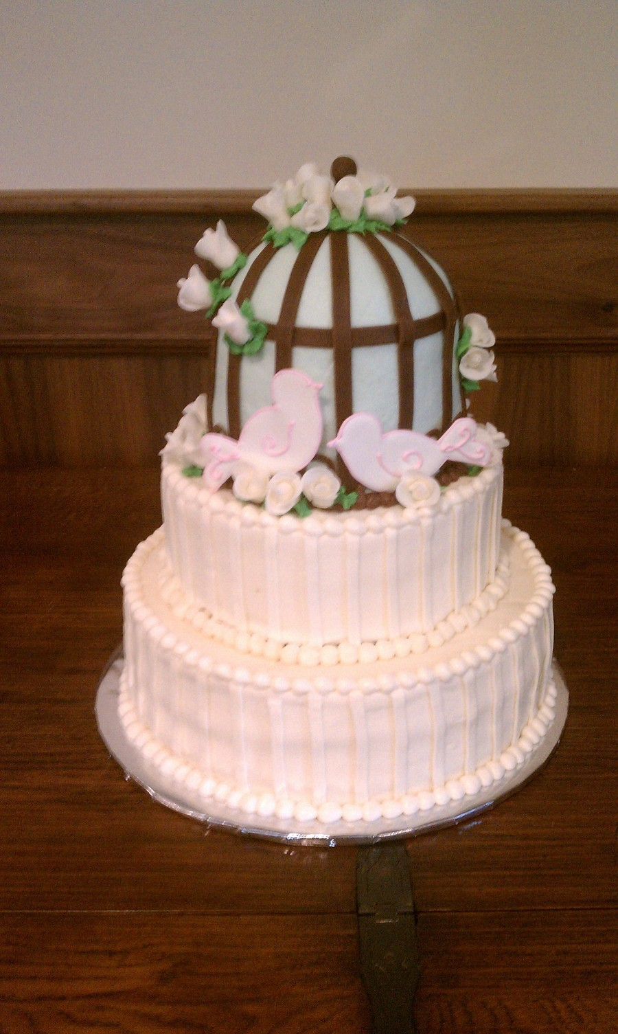Birdcage Wedding Cake on Cake Central