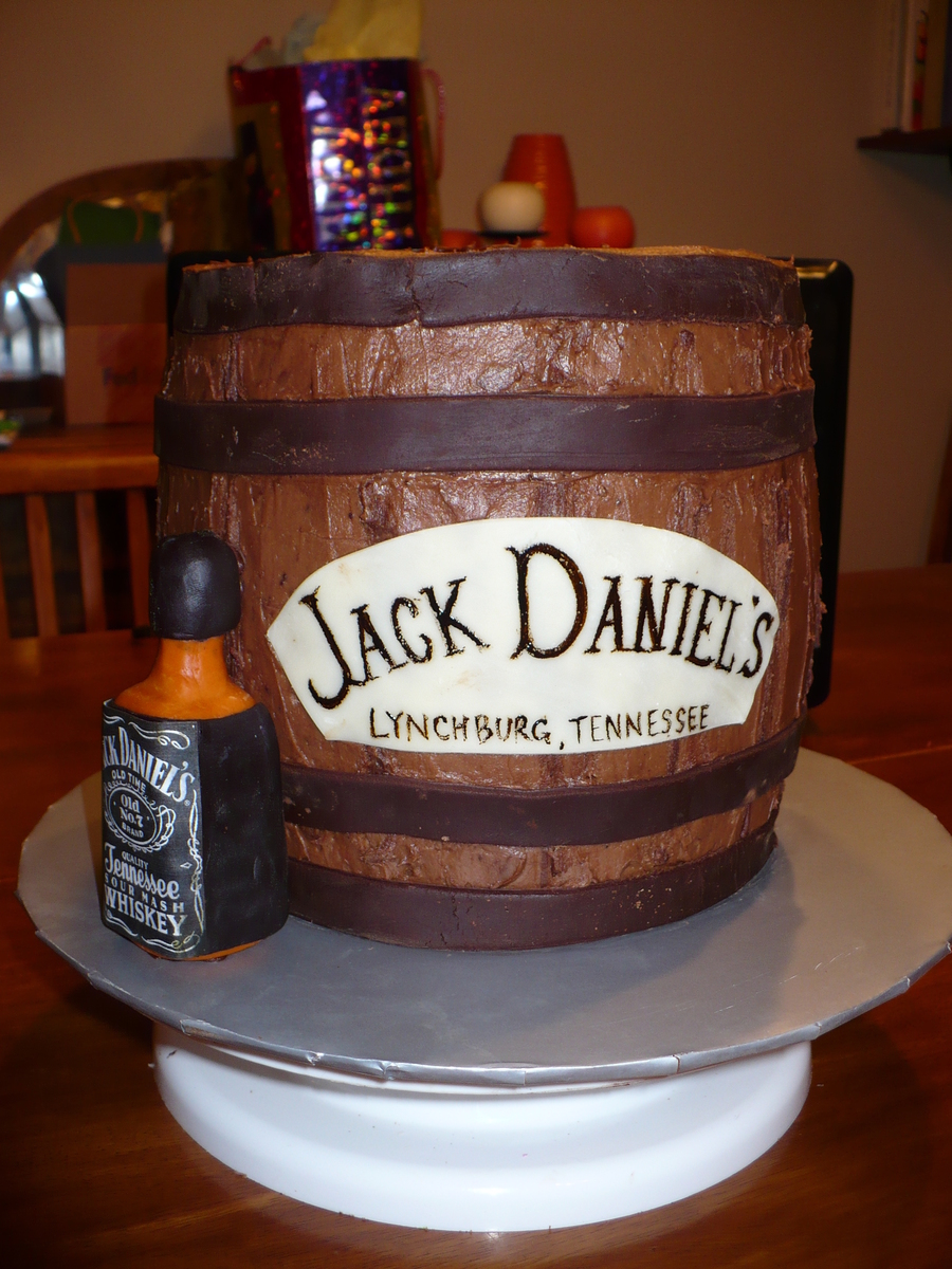 Jack Daniels Cake Decorations