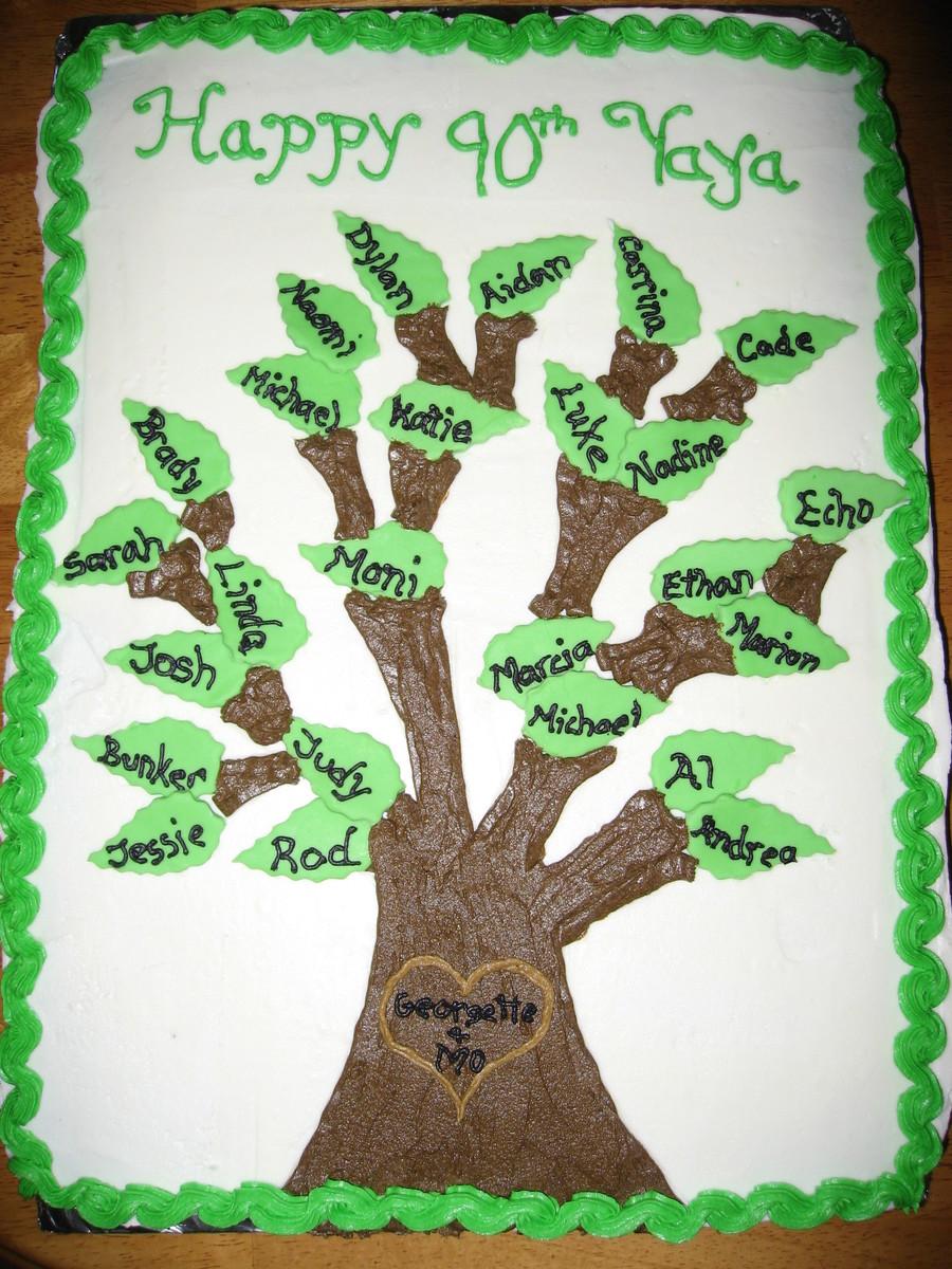 Family Tree Cake - CakeCentral.com