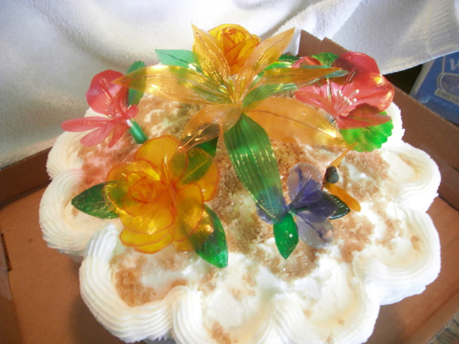 Gelatin flower pot cake cakecentral