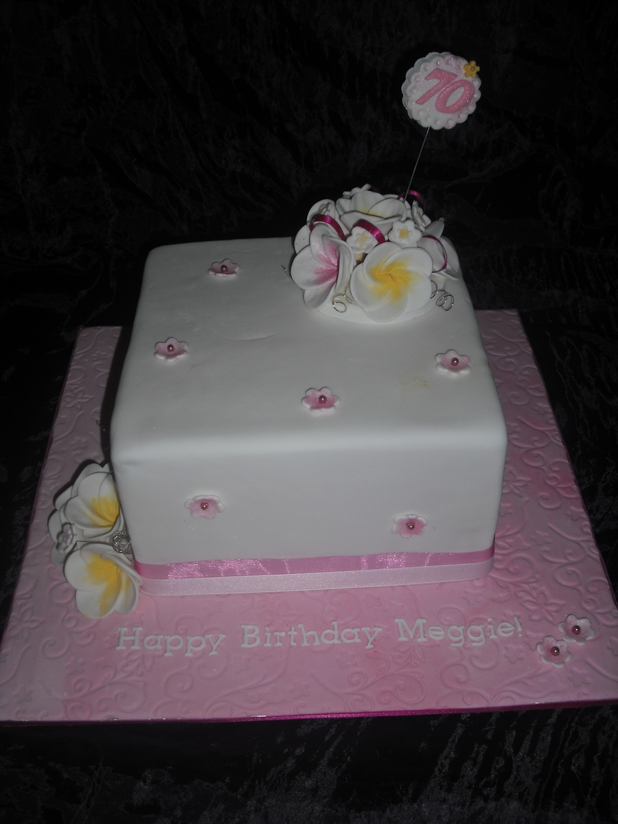 Frangipani 70Th on Cake Central