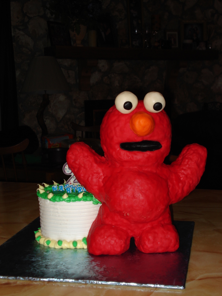 Groovy Elmo Make Out Of Rice Krispie Treats And Fondant Standing In Front Funny Birthday Cards Online Bapapcheapnameinfo