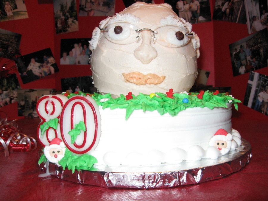 80Th Birthday Cake For My Dad All With Buttercream Frosting Fondant Accents On