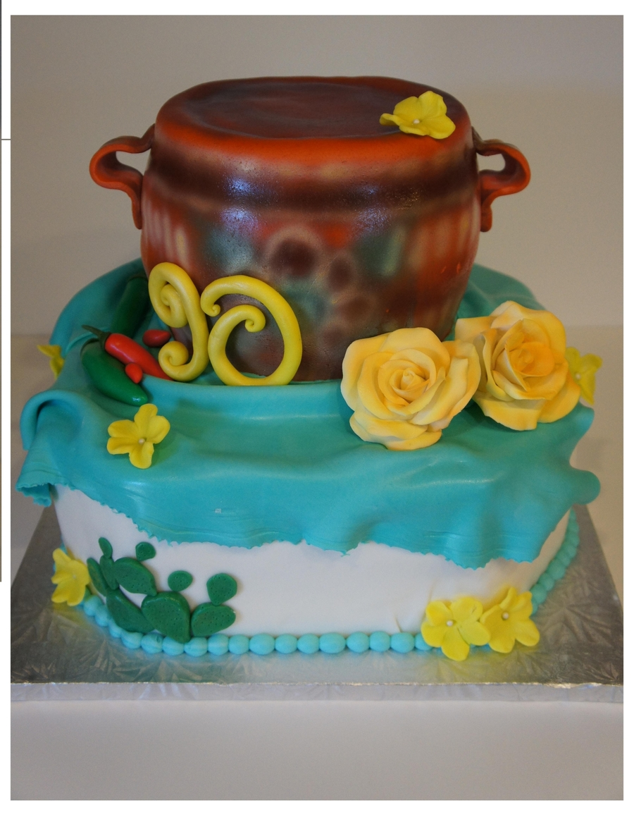 "Clay Pot Cake ""olla"" on Cake Central"